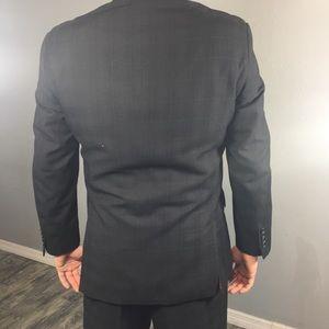 mecca Suits & Blazers - MECCA black 3 button suit with purple stripes 40R